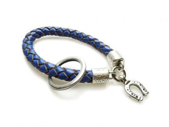 anke decker Schlüsselanhänger round blue