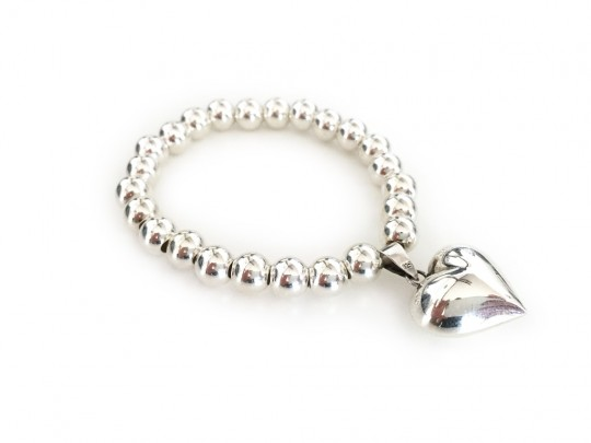 anke decker_Armband silver big heart