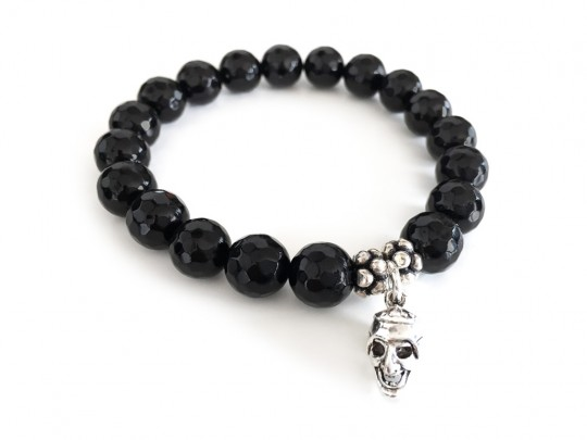 anke decker_Armband men black skull