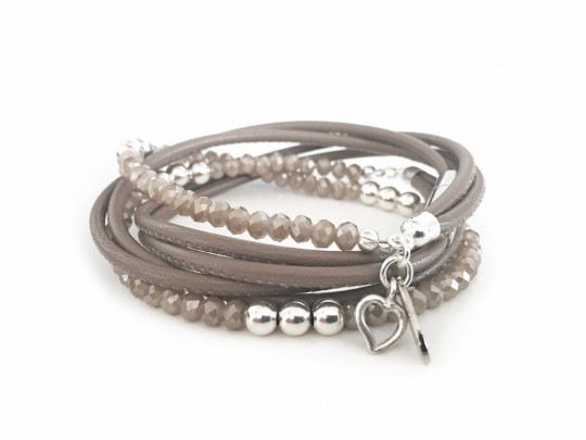 anke decker Armband brillant taupe