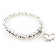 anke decker_Armband silver heart
