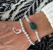 anke decker_Armband silver heart1