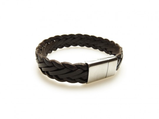 anke decker Lederarmband flat brown