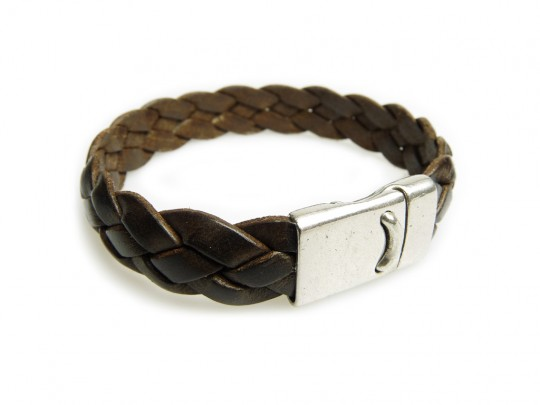 anke decker Lederarmband flat brown antik