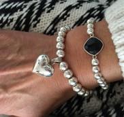 anke decker_Armband silver big heart1