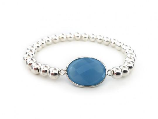 anke decker Armband 925er Silber Perlen