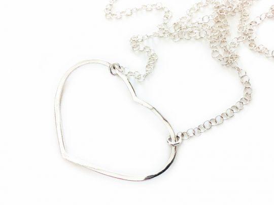 Kette Herz aus 925er Silber