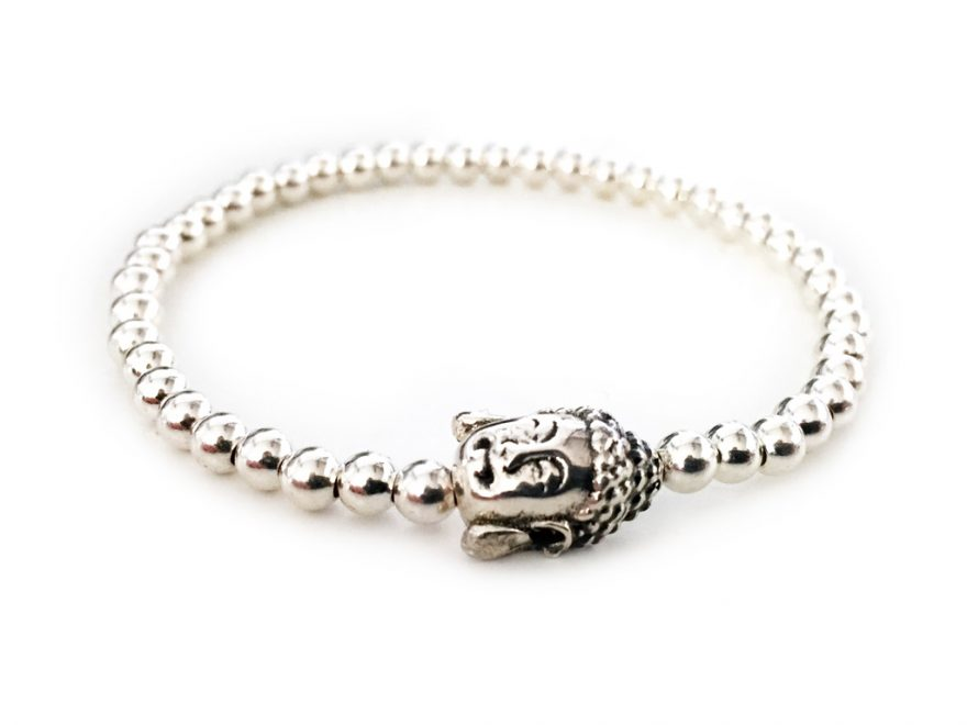 Armband aus Silber mit Buddha