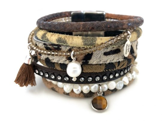 Lederarmband Animal Print